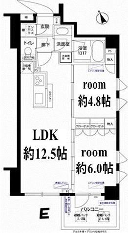 フォレシティ富ヶ谷 / 2LDK(54.62㎡) 部屋画像1