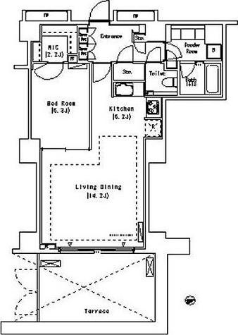 パークアクシス代官山(Park Axis 代官山) / 1LDK(64.43㎡) 部屋画像1