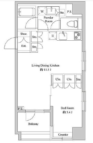 コスモグラシア日本橋浜町 / 1LDK(40.1㎡) 部屋画像1