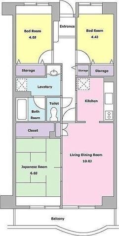 プラムハイツ東雪谷 / 3LDK(68.29㎡) 部屋画像1