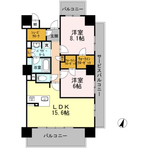 ロイヤルパークスERささしま / S-2LDK(70.70㎡) 部屋画像1