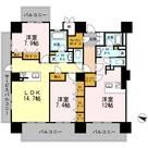 ロイヤルパークスERささしま / W-3LDK(110.32㎡) 部屋画像1