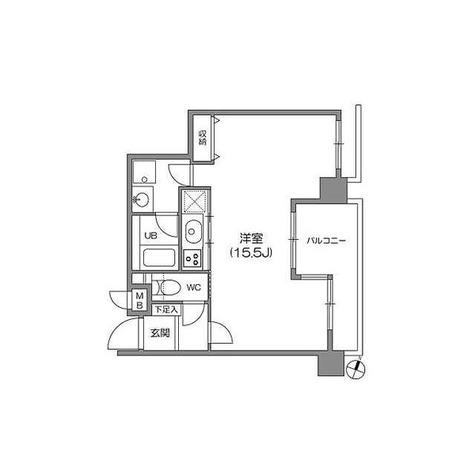 白金台アパートメント / 1R(40㎡) 部屋画像1