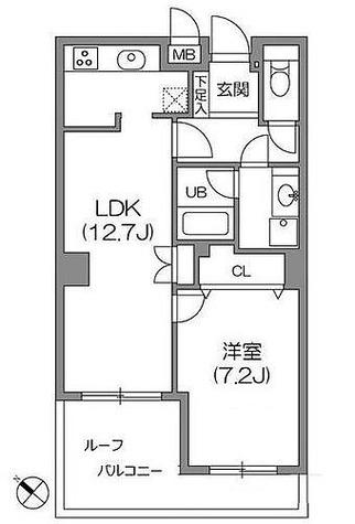白金台アパートメント / 1LDK(49.11㎡) 部屋画像1
