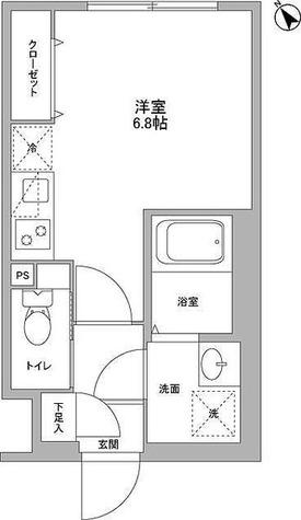 NOZOMIO武蔵小山 / E1R21.96㎡-2 部屋画像1