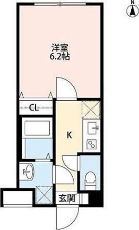 TRYM武蔵小杉 / 1K(21.24㎡) 部屋画像1