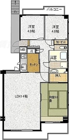コート日吉 / 3LDK(70.65㎡) 部屋画像1