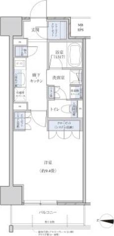 パークアクシス名駅南グランデ / 1K(34.87㎡) 部屋画像1