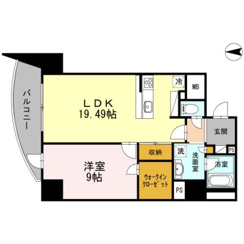 Blancasa久屋大通 / 1LDK(62.48㎡) 部屋画像1