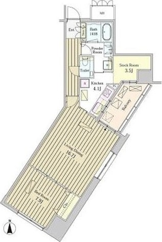 MOMENTO SHIODOME (モメント汐留) / 1LDK(72.50㎡) 部屋画像1