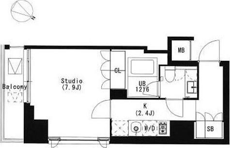 品川イースト / 1K(29.81㎡) 部屋画像1