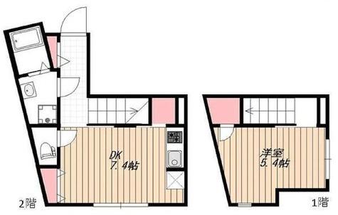 BGグランド若林 / Cタイプ(37.65㎡) 部屋画像1