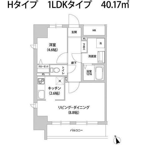 KANZE SHIBAURA RESIDENCE / 8階 部屋画像1