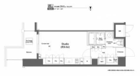 プラウドフラット横浜 / ワンルーム(29.61㎡) 部屋画像1