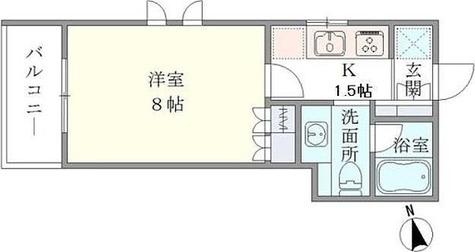 HARRY'S世田谷代田 / 1K(26.21㎡) 部屋画像1