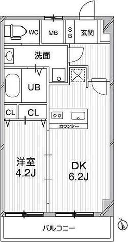 ガーラプレイス八幡山壱番館 / 1DK(32.49㎡) 部屋画像1