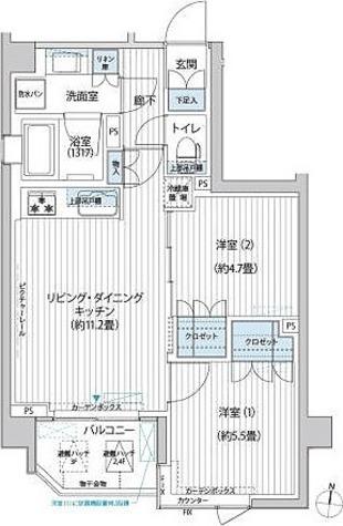 エル・グラシア都立大学 / 2LDK(49.96㎡) 部屋画像1