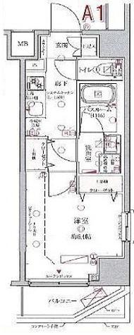 クレヴィスタ多摩川 / 1K(25.57㎡) 部屋画像1