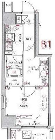 クレヴィスタ多摩川 / 1K(25.04㎡) 部屋画像1