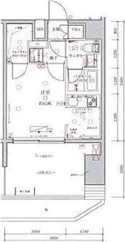 クレヴィスタ多摩川 / 1K(26.04㎡)RB 部屋画像1