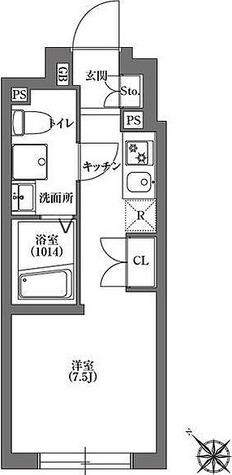 CARITAS不動前 / ワンルーム(20.18㎡) 部屋画像1
