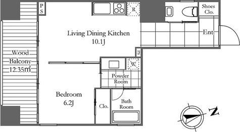 OWCA麻布十番 / 1LDK(44.70㎡) 部屋画像1