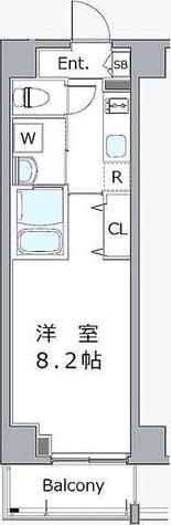 クレヴィスタ門前仲町グラン / 1K(25.56㎡) 部屋画像1