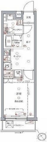 クレヴィスタ門前仲町 / 1K(25.52㎡) 部屋画像1