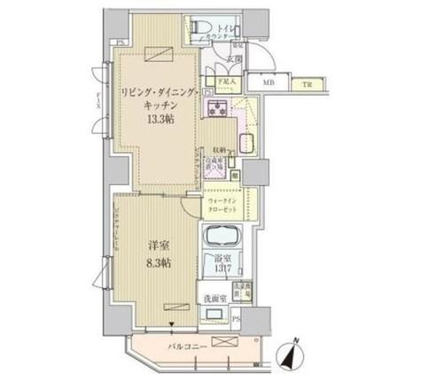 パークアクシス赤坂見附 / 1304 部屋画像1