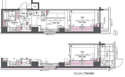 ZOOM戸越銀座 / Cタイプ(39.37㎡) 部屋画像1