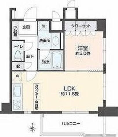 リエトコート四谷 / 1LDK(43.43㎡) 部屋画像1