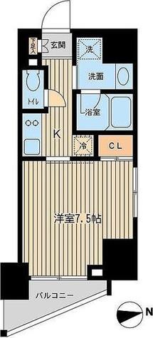 ルフォンプログレ三田 / Cタイプ(25.23㎡) 部屋画像1