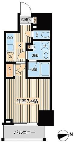 ルフォンプログレ三田 / Bタイプ(25.03㎡) 部屋画像1