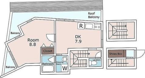 エスパス自由ヶ丘 / 1LDK(49.08㎡) 部屋画像1