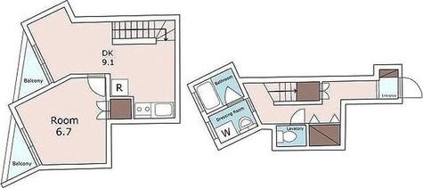 エスパス自由ヶ丘 / 1階 部屋画像1
