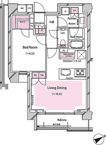 RISING SUN 恵比寿二丁目 BRANZ / 1LDK(51.25㎡) 部屋画像1