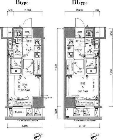 スパシエヴァロル品川荏原 / B1タイプ(21.70㎡) 部屋画像1