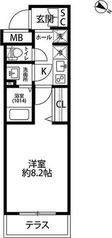 プレール・ドゥーク学芸大学 / Gタイプ(25.74㎡) 部屋画像1
