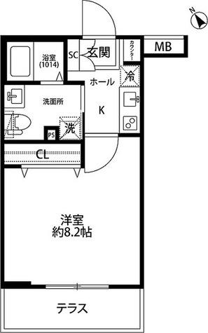 プレール・ドゥーク学芸大学 / Aタイプ(25.41㎡) 部屋画像1