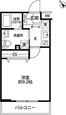 プレール・ドゥーク学芸大学 / Cタイプ(25.31㎡) 部屋画像1