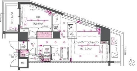 ZOOM戸越銀座 / 504 部屋画像1
