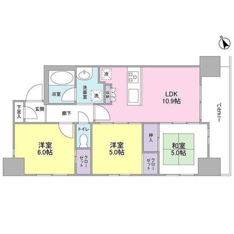 MIO CASTELLO 武蔵小山Ⅱ / 3階 部屋画像1