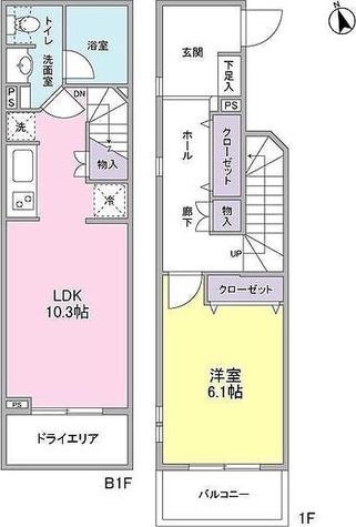 ストーリア等々力 / 1LDK(52.90㎡) 部屋画像1