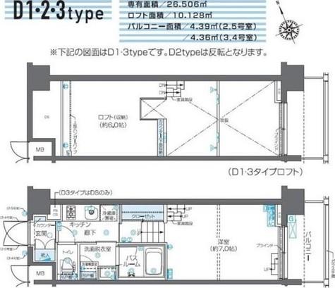 ZOOM芝浦 / 3階 部屋画像1