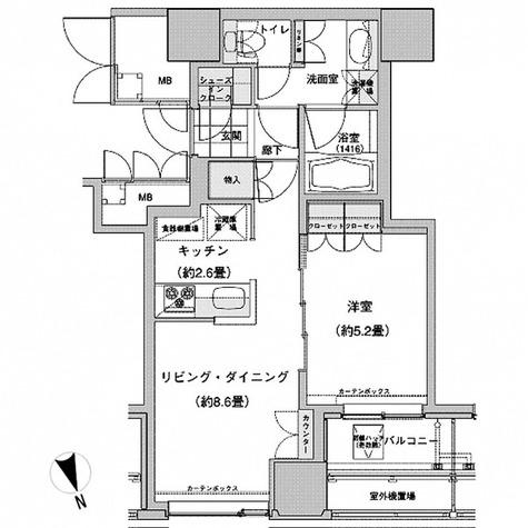 ウエストパークタワー池袋 / 1LDK(43.95㎡) 部屋画像1
