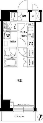 ルーブル東十条 / 1K(25.51㎡) 部屋画像1