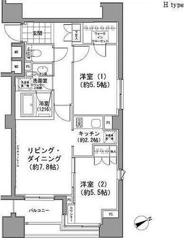 パークハビオ八丁堀 / 1階 部屋画像1