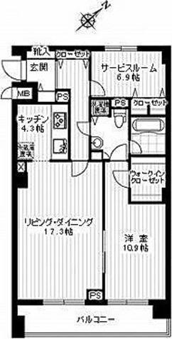 スペーシア恵比寿 / A-Fタイプ 部屋画像1