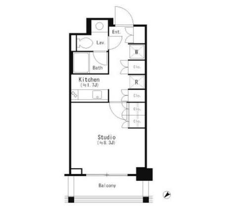 パークキューブ目黒タワー / 2階 部屋画像1