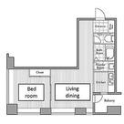レジディアタワー麻布十番 / 1LDK(54.91㎡) 部屋画像1